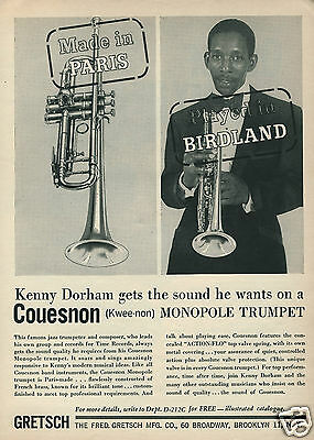 1961 COUESNON Monopole Trumpet Made in Paris Played in Birdland Kenny Dorham Ad