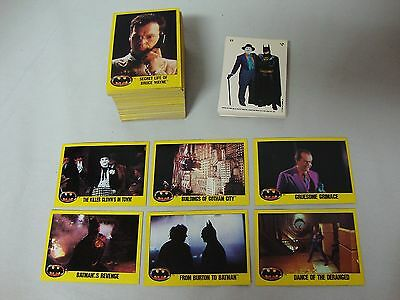 1989 Topps Batman movie Series 2 Card Set Cards Complete 133-264 + 20 Stickers