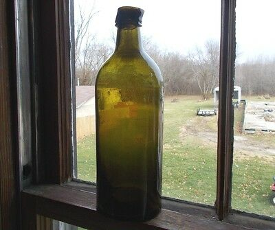 1860 Green 3 Pc Mold Master Ink Bottle With Replaced Pour Spout