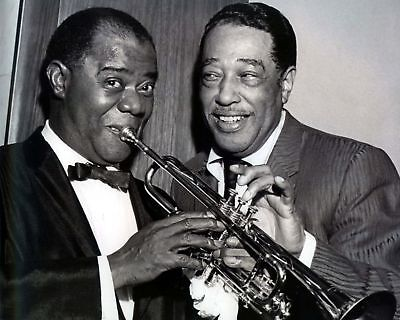 Louis Armstrong & Duke Ellington, 8x10 B&W Photo