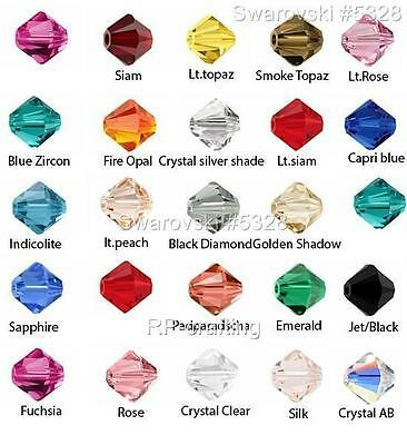 10 Authentic Swarovski Xilion Bicone Crystal Beads 6mm #5328-U Pick Color