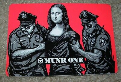 "MUNK ONE Sticker 1.75/"" ZOMBIE BEAR from poster print Invisible Industries"