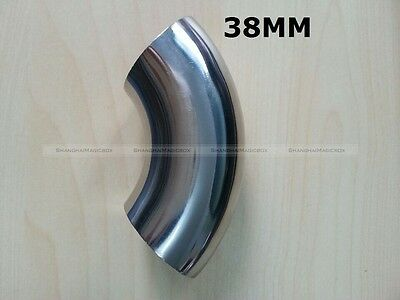 OD 38mm 1.5'' Sanitary Weld Elbow Pipe Fitting 90 Degree Stainless Steel 304 φ38