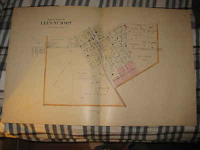 Huge Gorgeous Antique 1904 Lee's Summit Kanss City Jackson County Missouri Map N