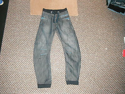 "Urban Ready For Action Cuff Jeans W 26"" L 28"" Faded Dark Blue Boys 12 Yrs Jeans"