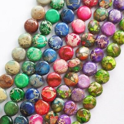 A Strand Mixed Stone Round Loose Bead 15.5 inch 10x5mm MM1091