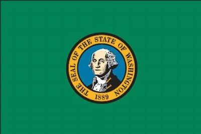 5x8 ft WASHINGTON OFFICIAL STATE FLAG OUTDOOR NYLON MADE IN USA VALLEY FORGE