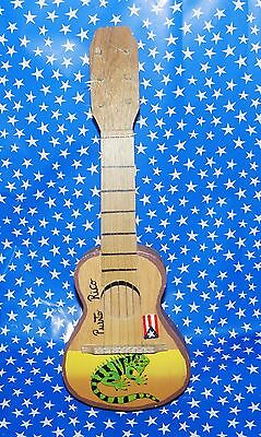 Souvenir Guitar from Puerto RIco with Iguana and Puerto Rican Flag HS6