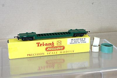 Triang Tt T173 Green Bogie Well Wagon Mint Boxed Rare