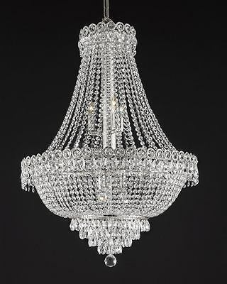 French Empire Empress Crystal (tm) Chandelier Chandeliers Lighting H 30  ... & FRENCH EMPIRE CRYSTAL CHANDELIER LIGHTING EMPRESS CRYSTAL (TM) H30 ...