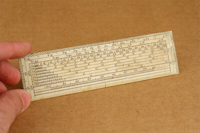 Antique 19th Century Bone Protractor/Ruler Drafting Drawing Architect Tool