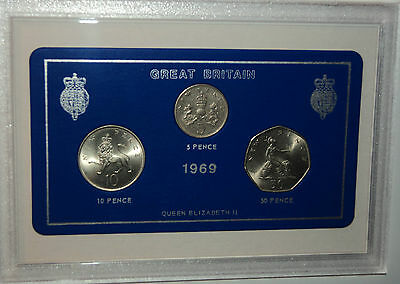 1969 Vintage Coin Set 50th Birthday Birth Year Present Wedding Anniversary Gift