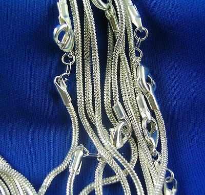 Wholesale 5pcs 925 Sterling Silver Snake Chain Necklaces 26inch
