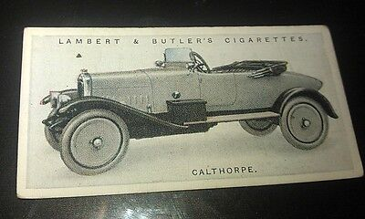 1923 CALTHORPE Lambert & Butler UK Cigarette Card