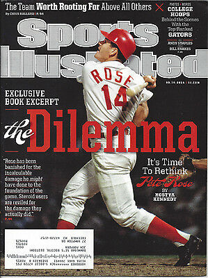 Pete Rose Cover Sports Illustrated Issue March 10, 2014