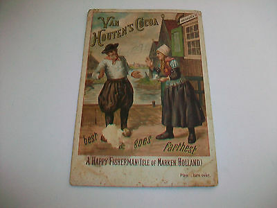Vintage Van Houten's Cocoa Advertising Picture Card condition issues
