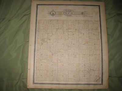 Antique 1896 Olive Township Rew Clinton County Michigan Handcolored Map Superb N