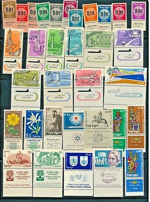 Israel 1960 - 1964 Year Sets Full Tabs VF MNH includes s/sheets & air mail sets