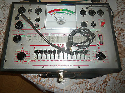Vintage Conar Model 223 Tube Tester With Pamplets