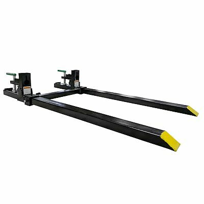 "Titan 43"" LW Clamp on Pallet Forks 1,500 lb Capacity w/ Stabilizer Bar"