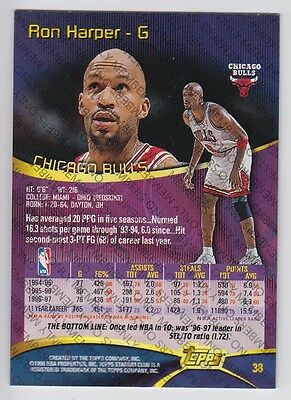 1997-98 STADIUM CLUB MEMBERS ONLY RON HARPER #38 RARE VERY LIMITED