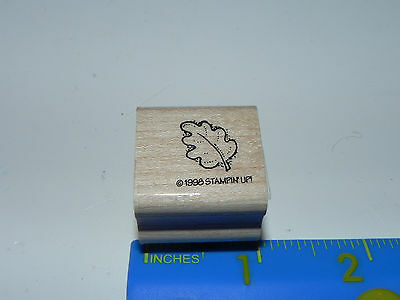 Stampin Up SMALL Rubber Stamp - Small Leaf Print (Oak?)