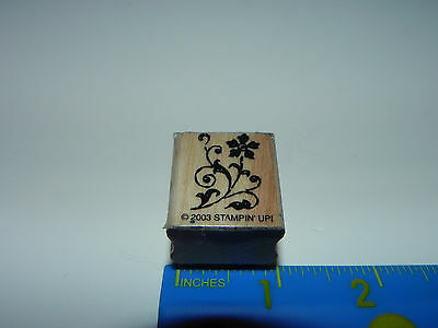 Stampin Up Small Rubber Stamp - Ornate Elegant Flower