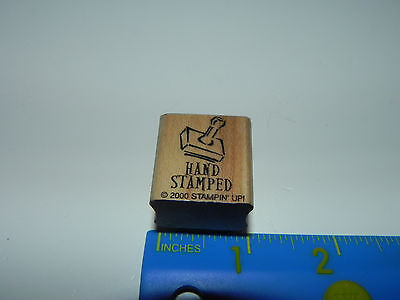 Stampin Up Small Rubber Stamp - Stamp Handle Hand Stamped