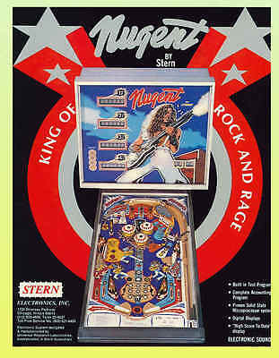 NUGENT , Stern Pinball Machine Advertising Flyer