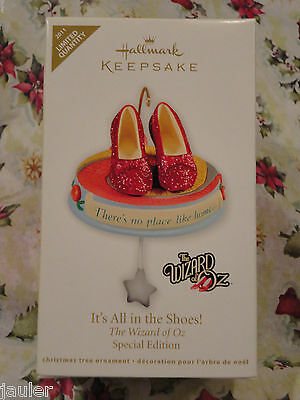 Hallmark 2011 Wizard Of Oz IT'S ALL IN THE SHOES Red Ruby Slippers Ornament NEW
