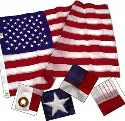 3x5 ft American US Flag HEAVY DUTY 2 Ply POLYESTER SEWN STARS & STRIPES USA Made