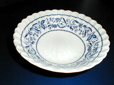 J G Meakin Blue Classic White LEGATO  Round Vegetable Bowl