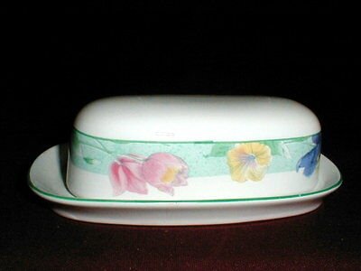 Sango Tropical Flower PASSION Quarter Pound Covered Butter Dish