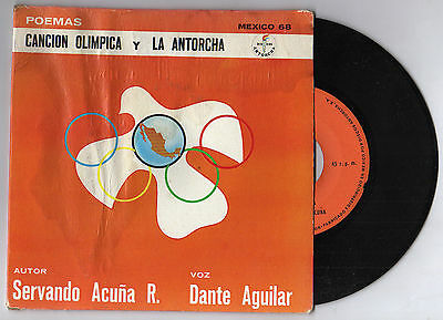 Orig.Record   Olympic Games MEXICO 1968 - THE OLYMPIC SONG  !!  VERY RARE