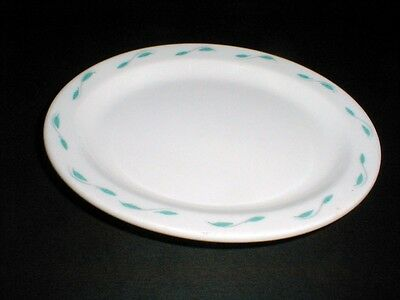 Homer Laughlin Restaurant Ware Best China Turquoise Leaf Small 7-1/4 Platter/s