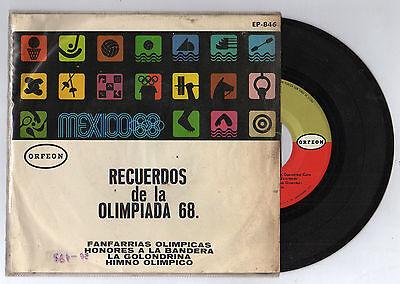 Orig.Record   Olympic Games MEXICO 1968 // OLYMPIC FANFARES  !!  VERY RARE