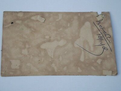 A Lovely Old Rajasthan Miniature Painted Indian Postcard Of Peacocks  No 129