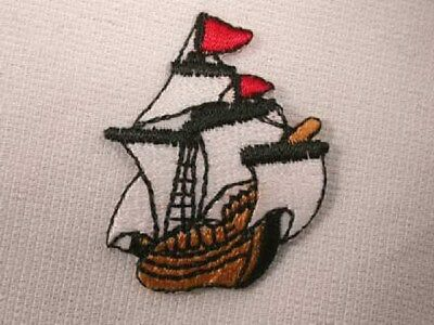 Pirate Ship Embroidered Iron On Patch Applique