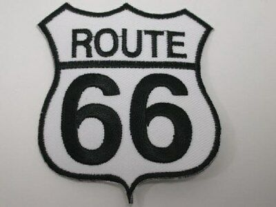 Route 66 Sign Embroidered Iron On Patch Applique