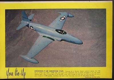 Lockheed P-80 Shooting Star JET Fighter 1945 PIN-UP