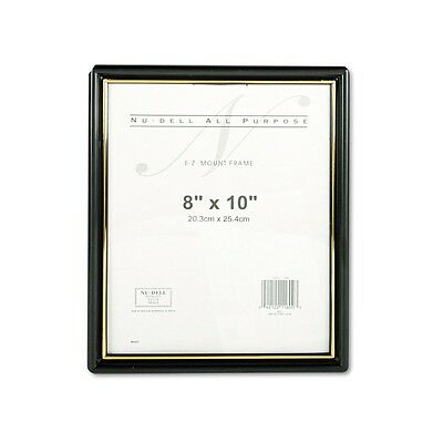 Nu-Dell EZ Mount 8x10 Plastic Document Certificate Award Photo Frame Black/Gold