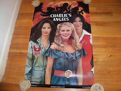 Charlie's Angels Poster 1977 Cheryl Ladd Jaclyn Smith Kate Jackson  23 x 35