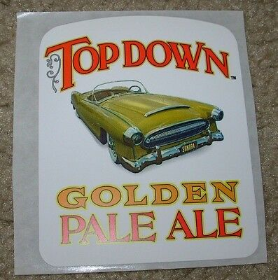 SONORAN BREWING COMPANY top down golden ale STICKER decal craft beer brewery