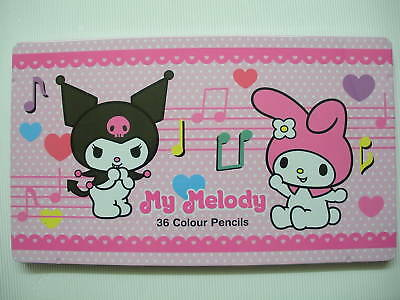 Genuined Sanrio Melody 36 Colour Pencils,with Metal Box,New