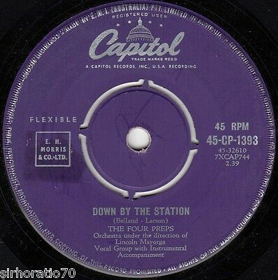 The FOUR PREPS Down By The Station / Listen Honey  45