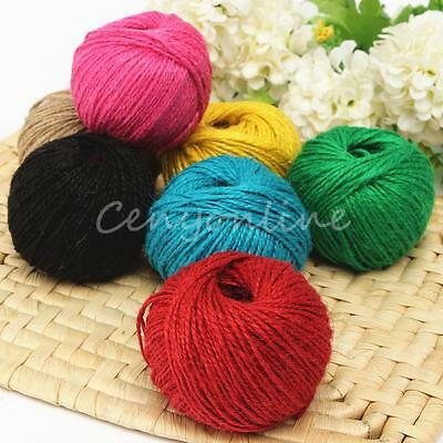 1pc 50M Twisted Burlap String Natural Ribbon Fiber Jute Twine Rope Wrap Gift