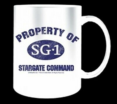 Property of Stargate Command SG-1 TV Series Ceramic Mug, NEW UNUSED