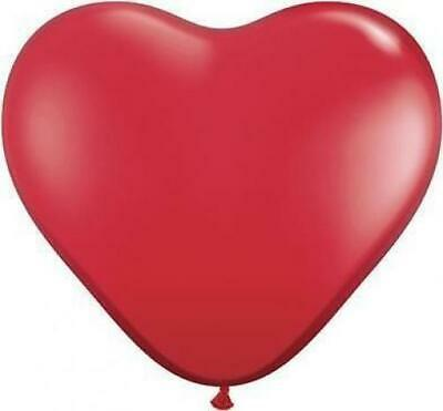 "50 x 6"" Qualatex Jewel Colours Heart Shape Latex Balloons -U Choose The Colour"