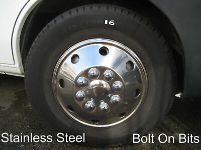 Stainless Wheel Trims for R 16 Tyres Ford Transit Fiat Ducato Hub cap/chrome