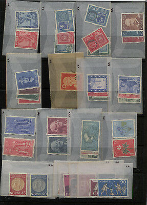 Norway nice lot of all mint stamps many  NH        KL1026